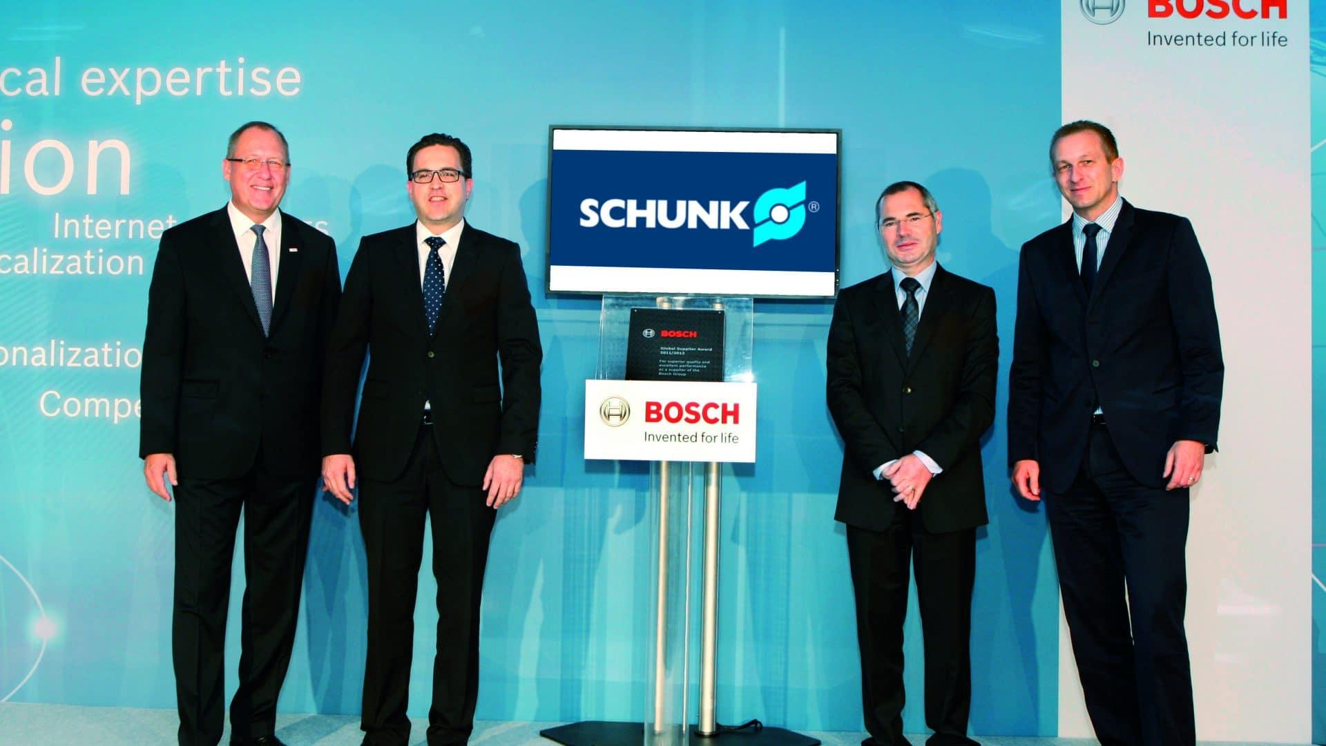 """BOSCH distingue a SCHUNK con el """"Global Supplier Award"""""""