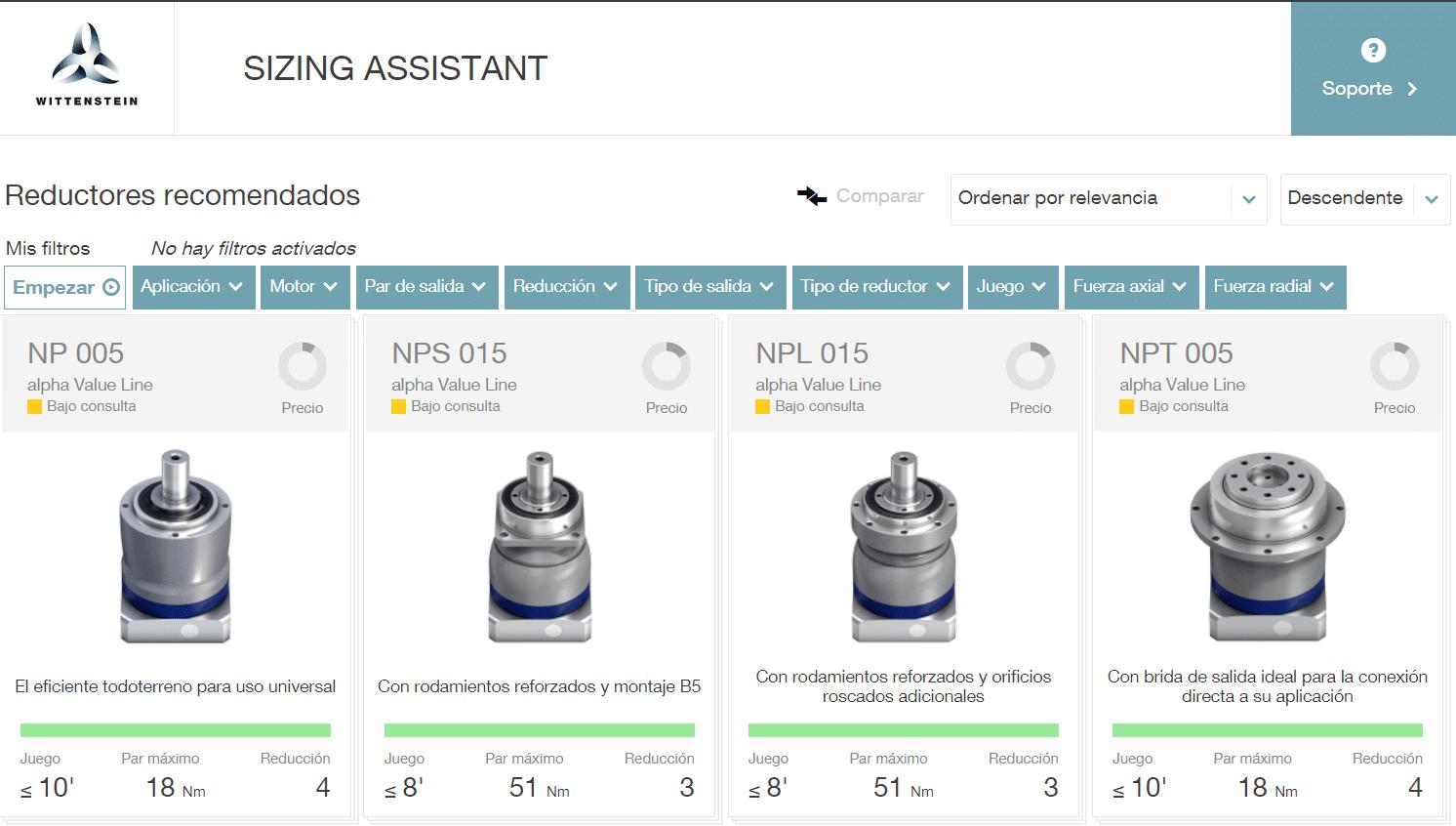 Sizing Assistant, la plataforma que calcula qué tipos de reductores necesitas